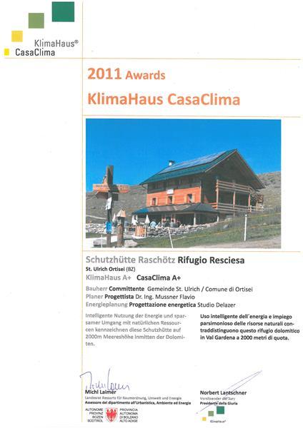 Klimahaus Award Raschötzhütte